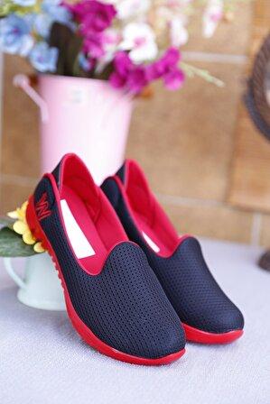 RK Format Shoes Kadın Kırmızı Ortapedik Ayakkabı