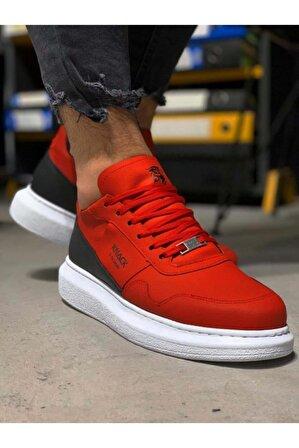 Knack Yüksek Taban Günlük Süet Ayakkabı 040 Kırmızı