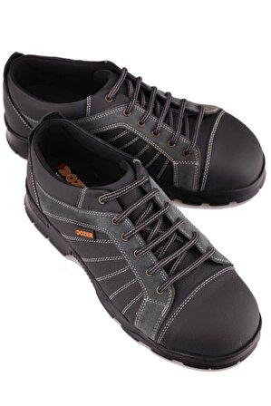 Calvano Hakiki Deri Çelik Burunlu Işçi Ayakkabısı