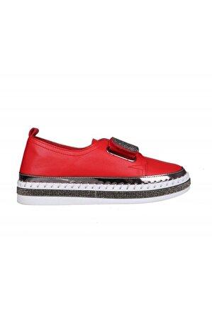 Guja 20y311-3 Dolgu Topuk Kırmızı Kadın Sneakers