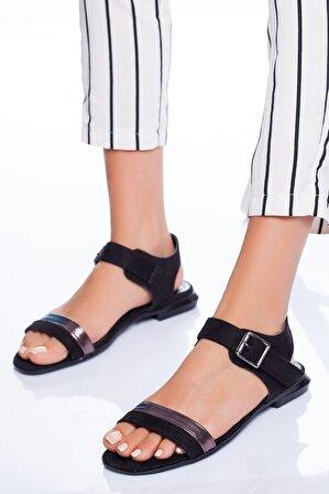 Ayakkabı Frekansı Kadın Siyah Sandalet