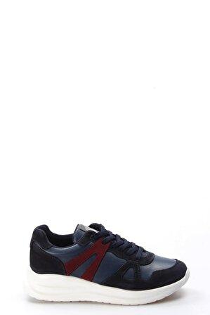 FAST STEP Hakiki Deri Mavi Lacivert Nubuk Erkek Sneaker Ayakkabı 723ma150