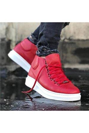 Erbilden Erkek Kırmızı Bağcıklı Sneaker