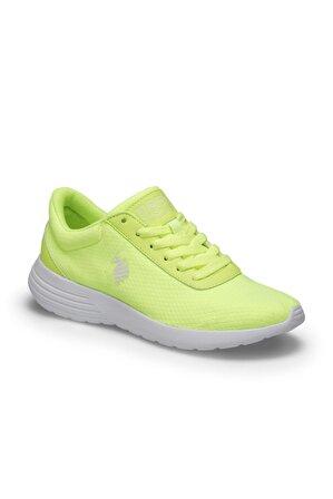 U.S. Polo Assn.  Raıny Neon Sarı Kadın Sneaker Ayakkabı