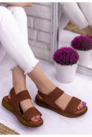 Erbilden Kadın Taba Margine Tabanlı Sandalet