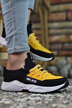 Riccon Siyah Sarı Erkek Sneaker