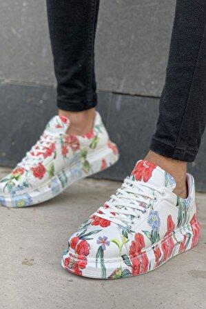Mida Shoes Grafity Çiçeklii Mida Sneakers