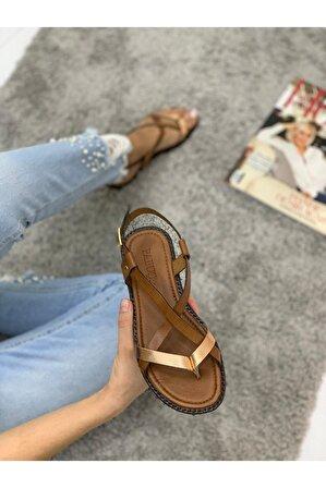 Pabuç Kadın Taba Sandalet