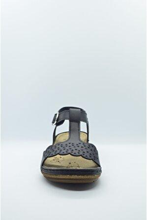 CARLA VERDE Kadın Sandalet Anatomik Taban 140714.50 Siyah