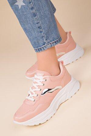 SOHO Pudra-Gumus Kadın Sneaker