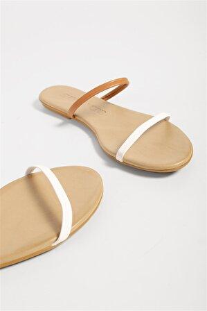 Shoes & More Kadın Bej Waynor – Bej Multi Terlik