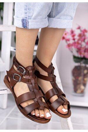 Ralina Ayakkabı Dawn Taba Kemerli Sandalet