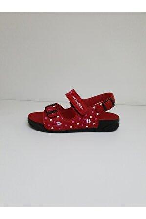 Ceyo Kız Çocuk Kırmızı Nomi Sandalet
