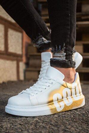Chekich Erkek Sarı Bağcıklı Sneaker Ch254