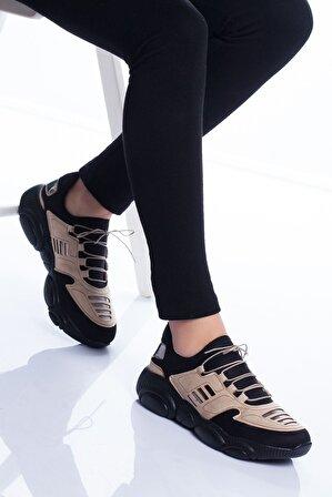 Stilbu Kadın Ten Marks Spor Ayakkabı