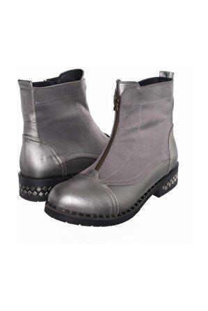 İriadam Kadın Gri Özel Seri Büyük Numara Bot Çizme K222-4