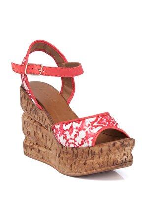 Tergan Kadın Kırmızı Deri Sandalet 64324a30