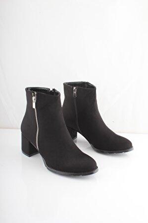 İnan Ayakkabı Kadın Siyah Süet Bot