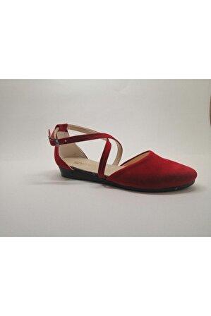 NEHİR AYAKKABI Kadın Kırmızı Babet Sandalet