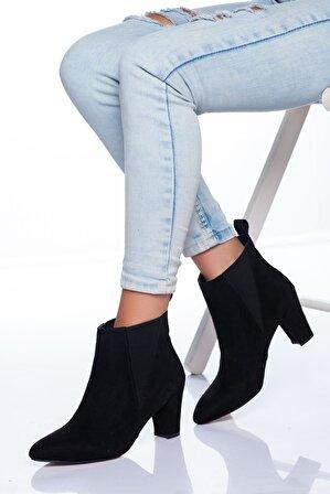 Ayakkabı Frekansı Kadın Siyah Süet Beybi Ayakkabı