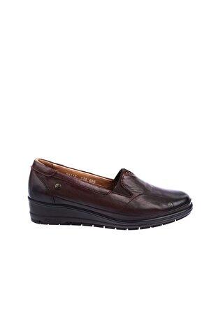 Forelli Kadın Kahve Deri Halluks Comfort Ayakkabı