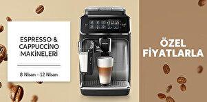 Espresso & Cappuccino ve Filtre Kahve Makinelerinde Sepette %3 İndirim