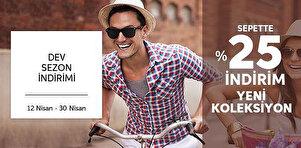 Dev Sezon İndirimi - Sepette %25 İndirim