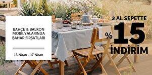 Bahçe & Balkon Mobilyalarında Bahar Fırsatları