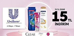 Unilever Saç Bakım Ürünlerinde Fırsat
