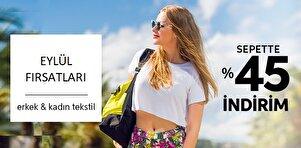 Eylül Fırsatları - Erkek & Kadın Tekstil - Sepette %45 İndirim