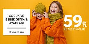 Çocuk ve Bebek Giyim & Ayakkabı - 59,99 TL Altı Ürünler
