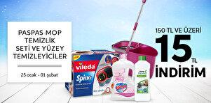 Paspas Mop Temizlik Seti ve Yüzey Temizleyici Ürünlerinde Fırsat