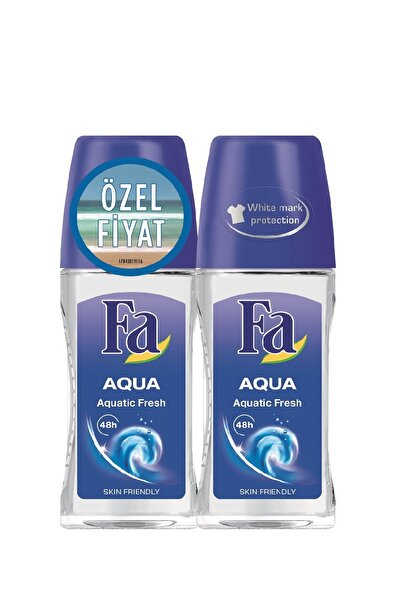 Fa 2'Li Deodorant Roll-On - Aqua 50  ml   + 50 ml