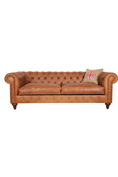 3A Mobilya Old English Leather Chesterfield 230X90X80 CM