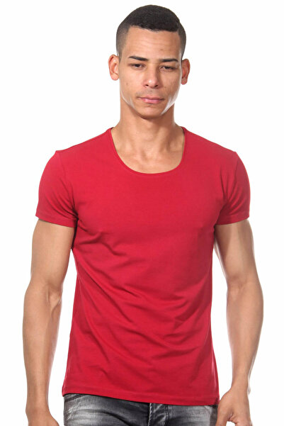 Darkzone Erkek Bordo Basic T-Shirt - Dzn8500
