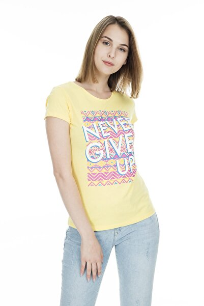 Fashion Friends Kadın Sarı T-Shirt - 9Y1547