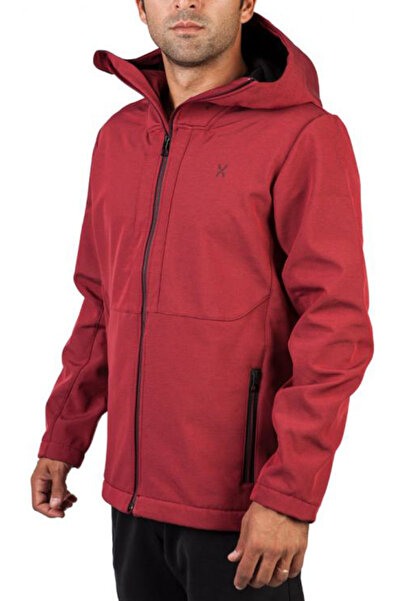 Exuma Erkek Bordo Mont - Outdoor Softshell - 281136