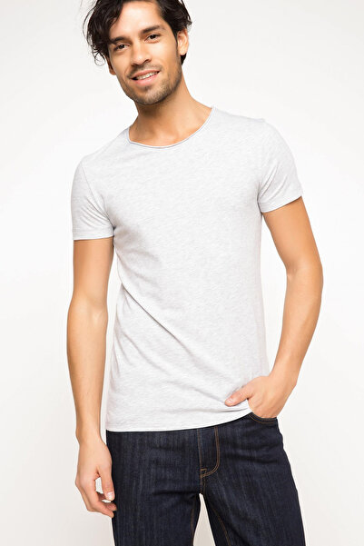 Erkek Ekstra Slim Fit Basic T-shirt G5720AZ.18SM.GR110