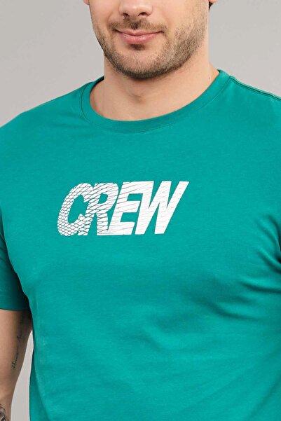 Mavi Pamuklu Erkek T-Shirt DW-2220
