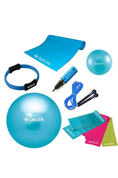 Delta 65 cm Top 10 mm Minder Turkuaz Pilates Seti - UNC