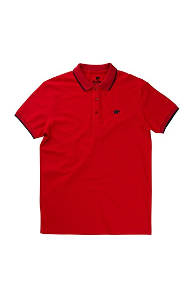 Bad Bear LINE PIQUE POLO RED