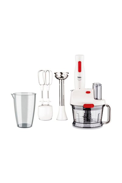 Fakir Mr Chef Quadro 1000W Rende ve Blender Seti (Krem)