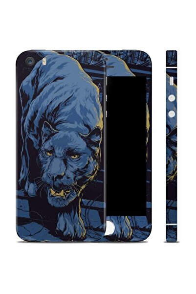 Renkli Garaj iPhone 5 5s Black Panther Telefon Kaplama