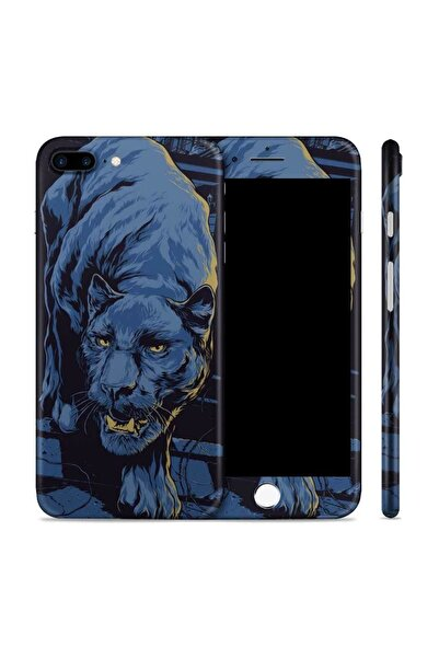 Renkli Garaj iPhone 8 Plus Black Panther Telefon Kaplama