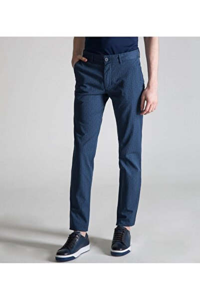 Toss Erkek Slim Fit 6 Drop Casual Pantolon   Mavi