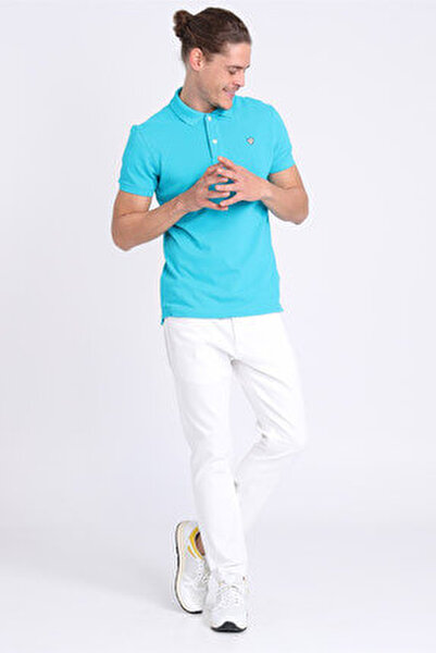 Erkek Joe Basic Polo T- Shirt Su Mavisi LF18SMKW0130633