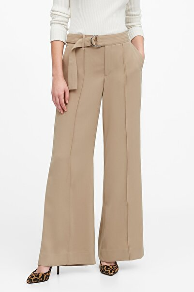 Banana Republic Kadın Bej High-Rise Wide-Leg Utility Pantolon 518066