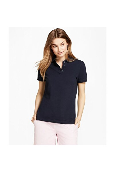 BROOKS BROTHERS Kadın Lacivert Polo Yaka T-shirt