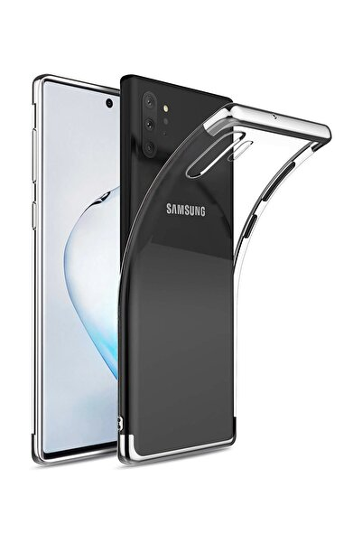 Microsonic Samsung Galaxy Note 10 Plus Kılıf Skyfall Transparent Clear Gümüş