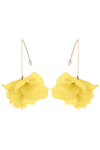 Cocco Kadın Sarı Çiçek Küpe CC10147
